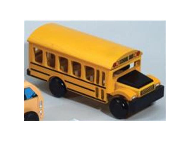 The Original Toy Company 54228 - Wooden Town School Bus