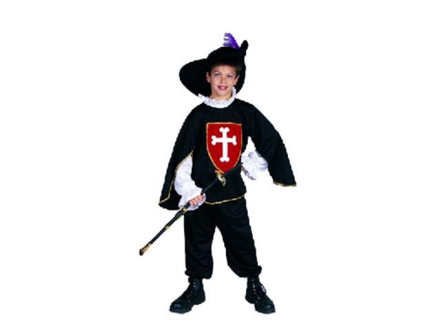 RG Costumes 90177-BK-S Black Musketeer Boy Costume - Size Child-Small