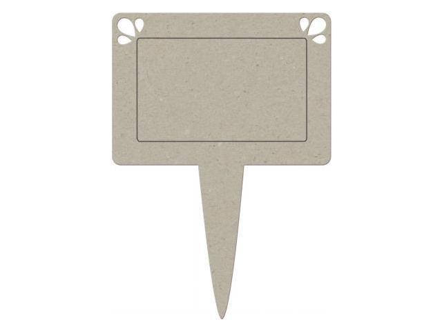 Die-Cut Grey Chipboard Embellishments-Pot Plant Tag 4.5
