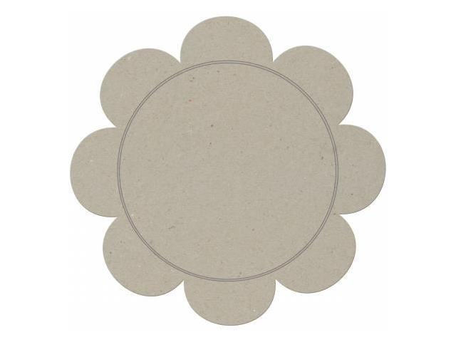 Die-Cut Grey Chipboard Embellishments-Big Daisy Plaque 11.5