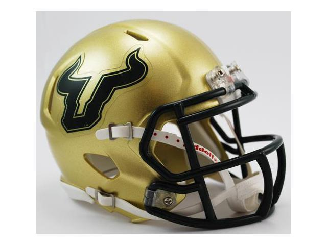 Creative Sports Enterprises, Inc RC-USF-MR-Gold-Speed South Florida Bulls Riddell Speed Mini Football Helmet
