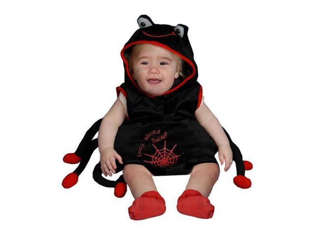 Dress Up America 362-0-6 Baby Plush Spider Costume - Size 0-6 Months