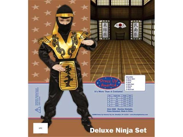 Dress Up America Deluxe Ninja Set Costume Set X-Large 16-18 288-XL