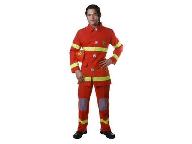 Dress Up America 341-L Adult Fire Fighter Costume in Red - Size Large