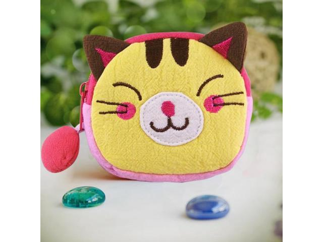 Blancho Bedding K-219-CAT Funny Cat Embroidered Applique Fabric Art Wrist Wallet / Coin Purse / Wrist Pack