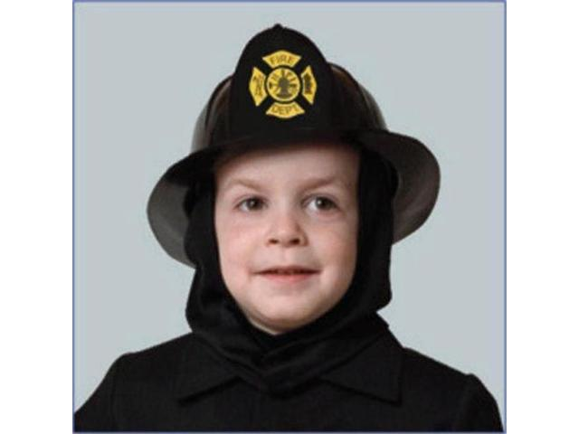 Dress Up America Fireh Black Fire Helmet Costume Accessory for Kids - One Size Fits All
