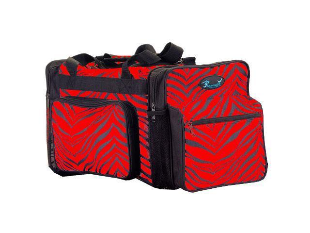 Pizzazz Performance Wear B200AP -RED -L B200AP Zebra Print Multi-Sport Bag - Red - Large