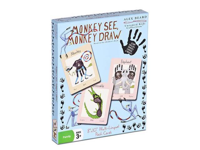 Discovery Bay Games 01115M Alex Beard Monkey See, Monkey Draw Flash Cards - 6 Packs