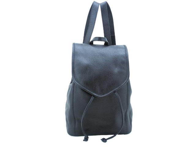 Leatherbay 80104 Leather Backpack Small, Black
