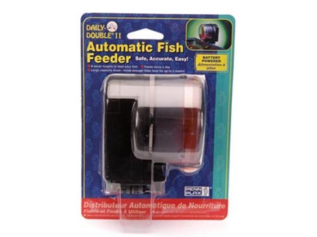 Penn plax ddaf2 daily double automatic fish feeder ii for Best automatic fish feeder