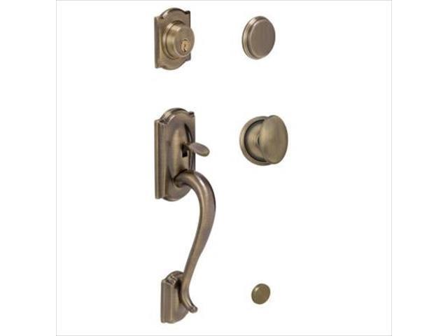 ingersoll rand f93 609 sie camelot handleset with siena interior knob antique brass with