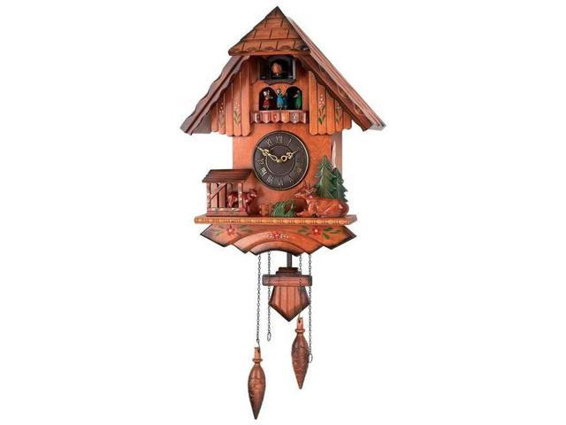 Kassel Colorful Cuckoo Clock With Wooden Accents