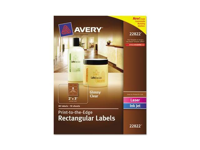 Avery 22822 Rectangle Easy Peel Labels, 2 x 3, Clear, 80-Pack