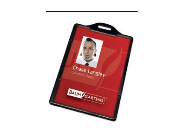 Baumgartens 68320 Card Holder-Vertical-25/pk - Pack of 4