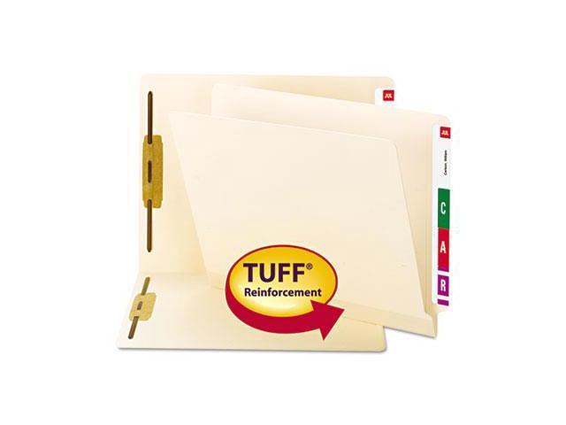 Smead 37105 Reinforced End Tab Fastener Folder, One Fasteners, Legal, Manila, 50-BX