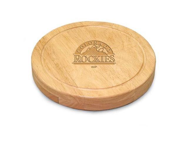 Picnic Time PT-854-00-505-093-3 Colorado Rockies Mlb Circo Cheese Board
