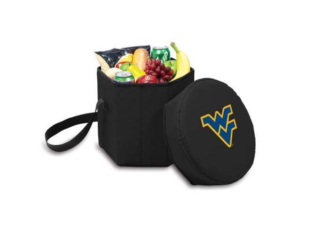 Picnic Time PT-596-00-179-834-0 West Va Mountaineers Bongo Cooler-Seat in Black