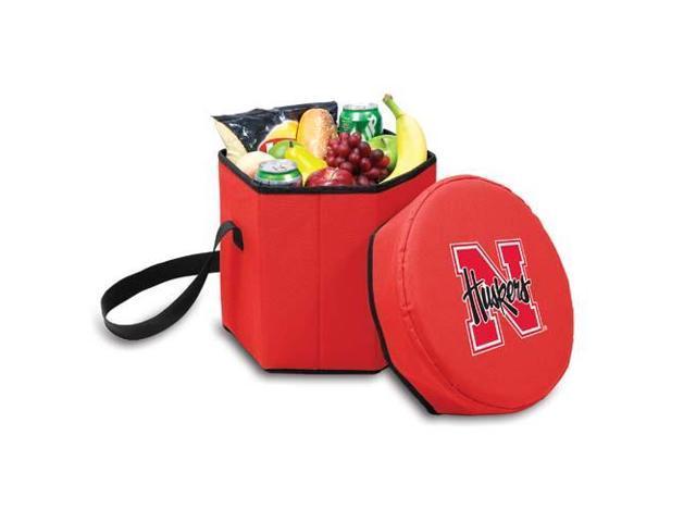 Picnic Time PT-596-00-100-404-0 Nebraska Cornhuskers Bongo Cooler-Seat in Red