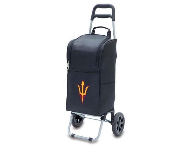 Picnic Time PT-545-00-175-024-0 Arizona State Sun Devils Cart Cooler in Black