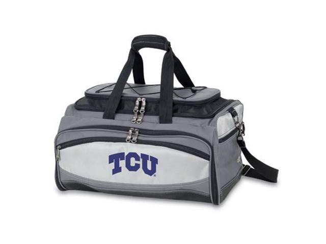Picnic Time PT-750-00-175-842-0 Texas Christian Horned Frogs Buccaneer Tailgating Embroidered Cooler in Black