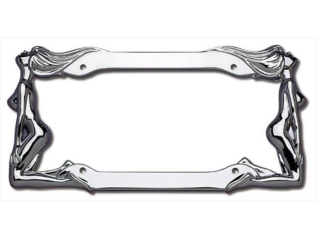 Cruiser Accessories 20230 Twins License Plate Frame, Chrome