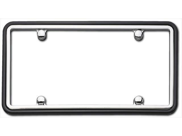 Cruiser Accessories 63350 Two Tone License Plate Frame, Chrome And Black