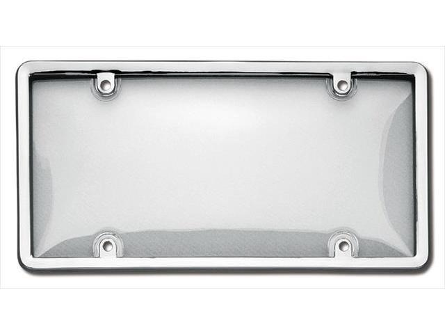Cruiser Accessories 60310 Combo License Plate Frame and Bubble Shield, Chrome And Clear