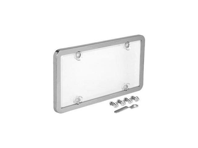 Cruiser Accessories 62310 Ultimate Tuf Combo License Plate Frame and Bubble Shield, Chrome And Clear