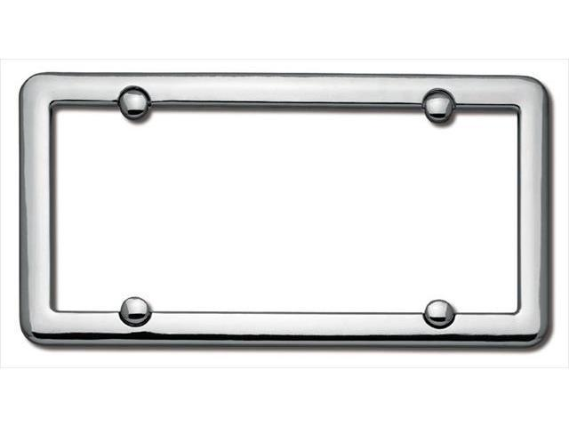 Cruiser Accessories 20630 Nouveau License Plate Frame, Chrome With fastener caps