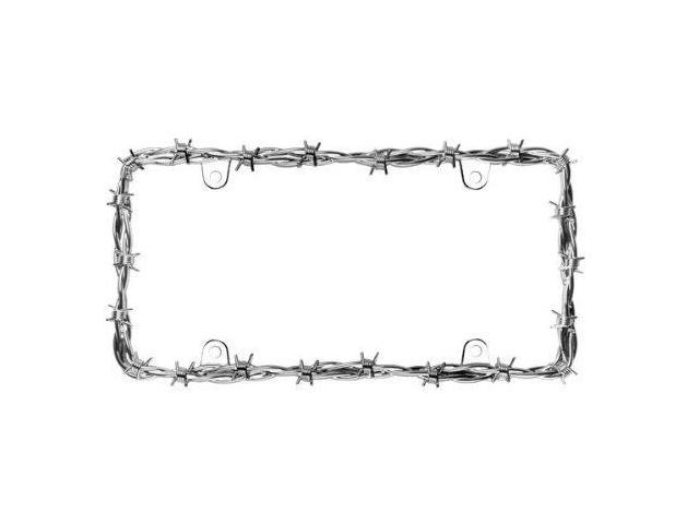 Cruiser Accessories 22230 Barbed Wire II License Plate Frame, Chrome