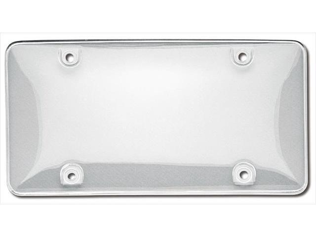 Cruiser Accessories 72100 Bubble Novelty License Plate shield, Clear