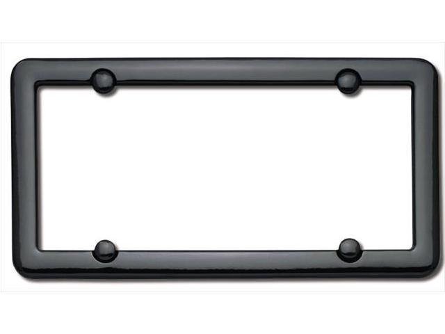 Cruiser Accessories 20650 Nouveau License Plate Frame, Black With fastener caps
