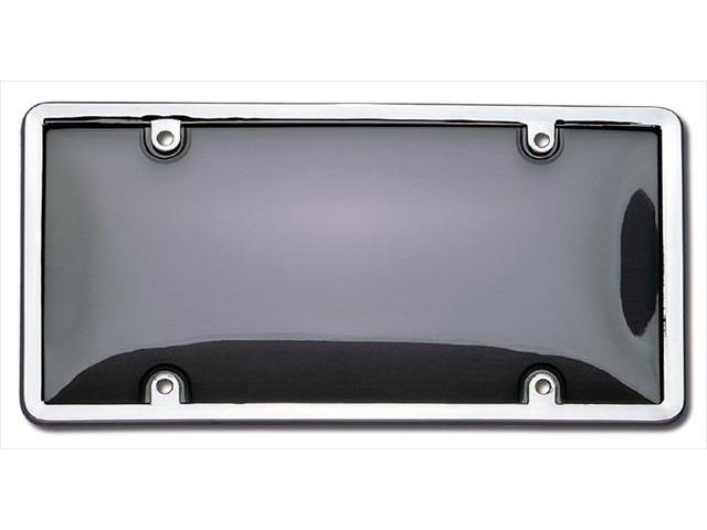 Cruiser Accessories 60320 Combo License Plate Frame and Bubble Shield, Chrome And Smoke