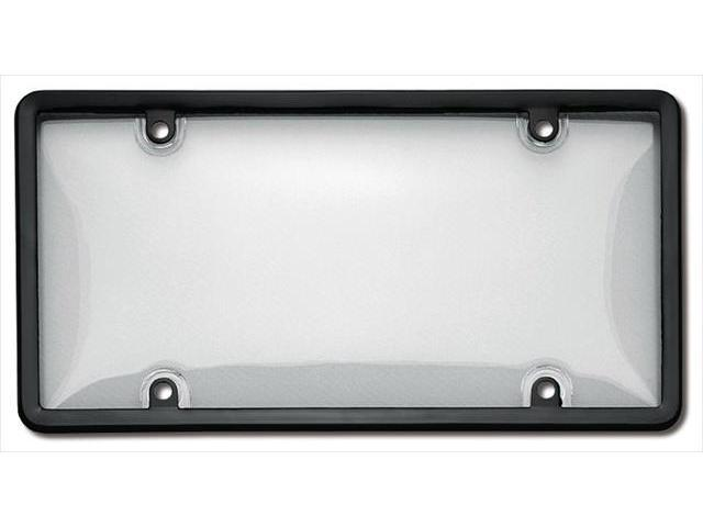 Cruiser Accessories 60510 Combo License Plate Frame and Bubble Shield, Black And Clear