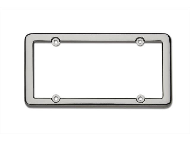 Cruiser Accessories 20680 Nouveau License Plate Frame, Black Chrome With fastener caps