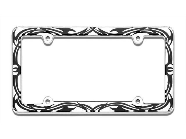 Cruiser Accessories 23023 Tribal License Plate Frame, Chrome