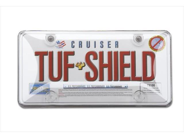 Cruiser Accessories 73100 Tuf Bubble Novelty License Plate shield, Clear