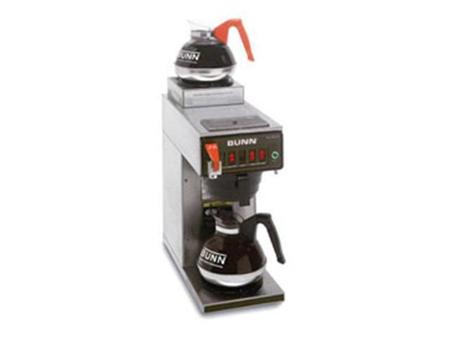 BUNN 12950.0356 12 Cup Coffee Brewer with Upper/Lower Warmers CWT15 Stainless Steel Funnel