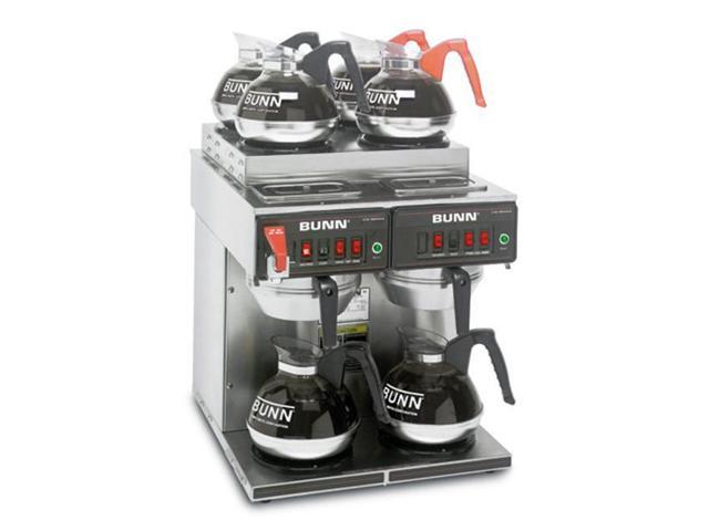 BUNN 23400.0011 12 Cup Coffee Brewers Thermo Fresh 4/2 TWIN 120/240V Stainless Steel Funnel