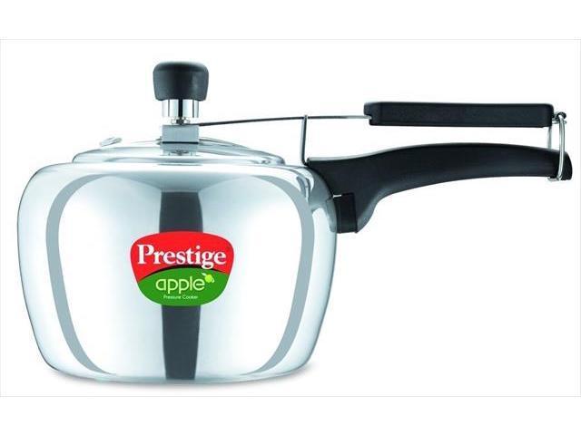 Prestige PRA3P Apple Aluminum Polished Finish Pressure Cooker - 3 Litres