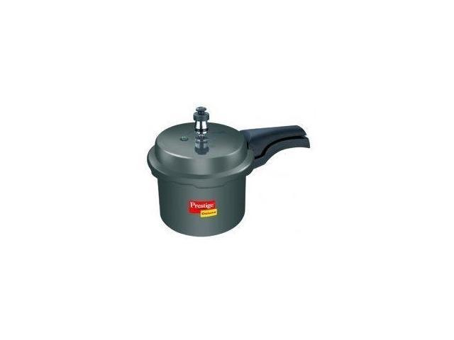 Prestige PRHA2.5 Deluxe Hard Anodized Black Color Pressure Cooker - 2.5 Litres