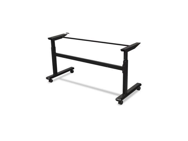 Balt 90317 Height-Adjustable Flipper Table Base, 72w x 24d x 28.5 to 45h, Black