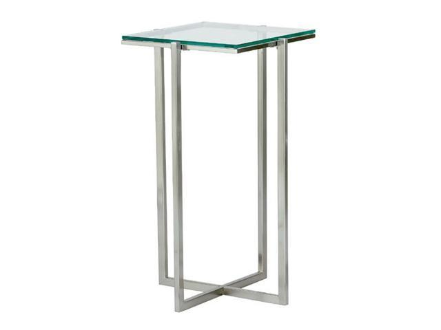 Adesso HX1125 Glacier Medium Pedestal Satin Steel 22
