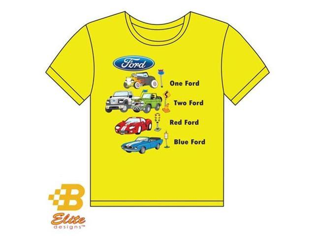 B Elite Designs BDFMSTY108-YLwith L Children s 1 'Ford 2 'Ford Yellow Tee Shirt Yellow- Large 14-16