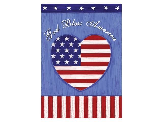 Toland Home And Garden God Bless U S Garden Flag