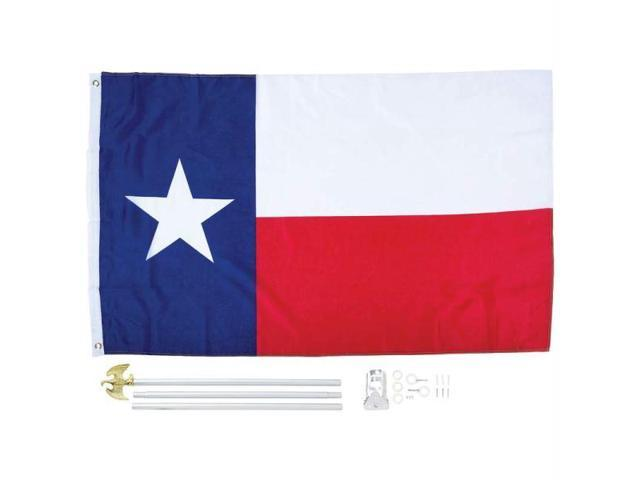 5 X 3 Texas State Flag And Pole Kit