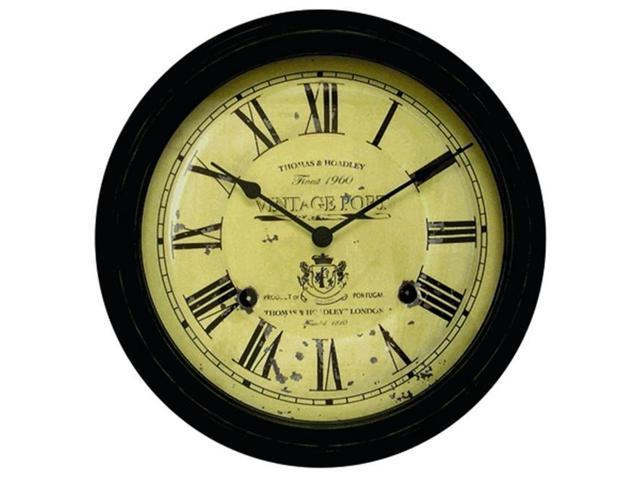 Chaney 50324 Black Vintage Port Wall Clock