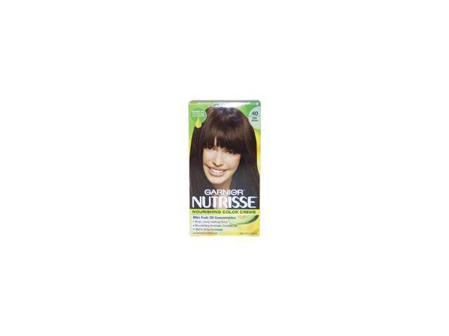 Garnier U-HC-3687 Nutrisse Nourishing Color Creme No. 40 Dark Brown - 1 Application - Hair Color
