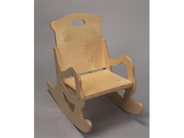 Giftmark 1467N Child s Secured Solid Puzzle Rocking Chair Natural