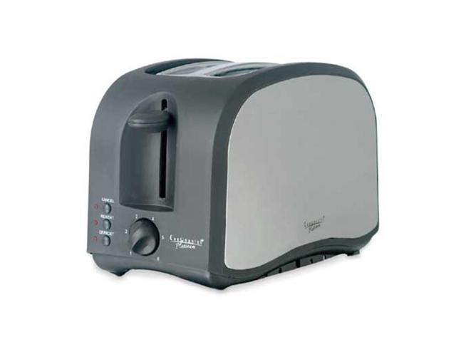 Continental CP43439 Platinum 2-slice Stainless Steel and Black Toaster
